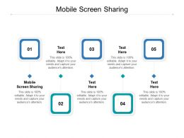 Mobile Screen Sharing Ppt Powerpoint Presentation Show Outline Cpb