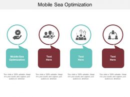 Mobile Sea Optimization Ppt Powerpoint Presentation Infographic Template Summary Cpb