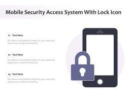 Mobile Security Access System With Lock Icon