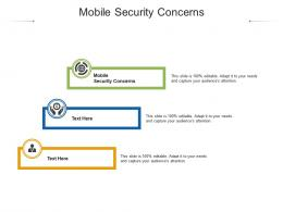 Mobile Security Concerns Ppt Powerpoint Presentation Infographic Template Format Cpb