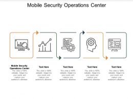 Mobile Security Operations Center Ppt Powerpoint Presentation Layouts Portfolio Cpb