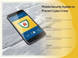 Mobile Security System To Prevent Cyber Crime