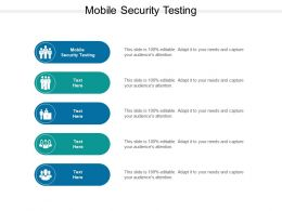 Mobile Security Testing Ppt Powerpoint Presentation Ideas Examples Cpb