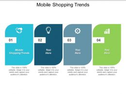 Mobile Shopping Trends Ppt Powerpoint Presentation Model Smartart Cpb