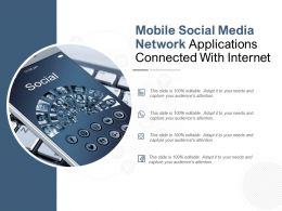 Mobile Social Media Network Applications Connected With Internet