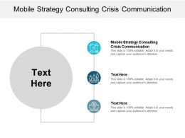 Mobile Strategy Consulting Crisis Communication Ppt Powerpoint Presentation Gallery Cpb