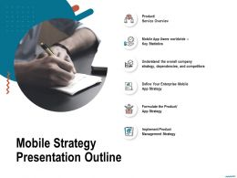 Mobile Strategy Presentation Outline Dependencies Ppt Powerpoint Presentation Slides Examples