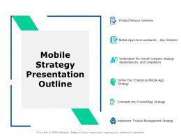 Mobile Strategy Presentation Outline Management Strategy Ppt Slides