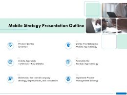 Mobile Strategy Presentation Outline Overview Ppt Powerpoint Presentation File