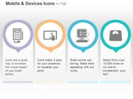 Mobile Tablet Touch Screen Connection Meter Ppt Icons Graphics
