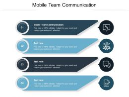 Mobile Team Communication Ppt Powerpoint Presentation Professional Brochure Cpb