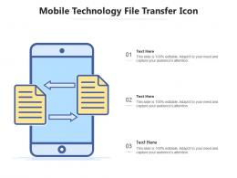 Mobile Technology File Transfer Icon
