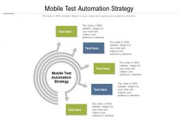 Mobile Test Automation Strategy Ppt Powerpoint Presentation Ideas Topics Cpb