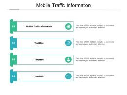 Mobile Traffic Information Ppt Powerpoint Presentation Background Designs Cpb