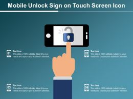Mobile Unlock Sign On Touch Screen Icon