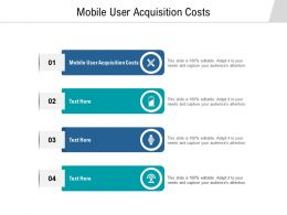 Mobile User Acquisition Costs Ppt Powerpoint Presentation Professional Mockup Cpb