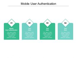 Mobile User Authentication Ppt Powerpoint Presentation Outline Sample Cpb