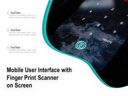 Mobile User Interface With Finger Print Scanner On Screen