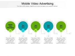 Mobile Video Advertising Ppt Powerpoint Presentation Summary Microsoft Cpb