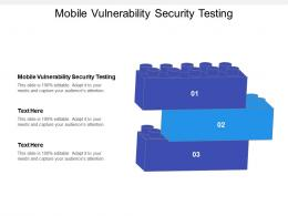 Mobile Vulnerability Security Testing Ppt Powerpoint Presentation Infographic Template Clipart Images Cpb