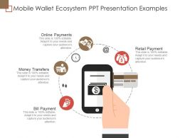 Mobile Wallet Ecosystem Ppt Presentation Examples