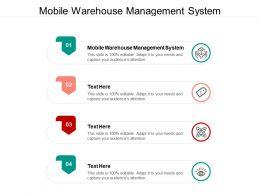 Mobile Warehouse Management System Ppt Powerpoint Presentation Slides Samples Cpb