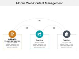 Mobile Web Content Management Ppt Powerpoint Presentation Infographics Themes Cpb