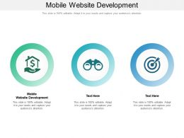 Mobile Website Development Ppt Powerpoint Presentation Portfolio Smartart