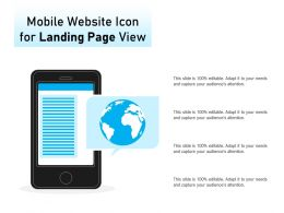Mobile Website Icon For Landing Page View