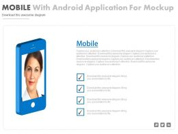 Mobile With Android Application For Mock Up Flat Powerpoint Design