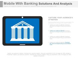Mobile With Banking Solutions And Analysis Powerpoint Slides