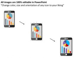 mobile_with_bar_graph_and_pie_graph_flat_powerpoint_design_Slide02