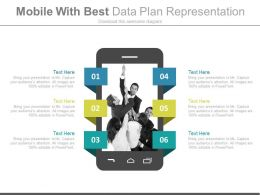 Mobile With Best Data Plan Representation Flat Powerpoint Design