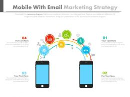 Mobile With Email Marketing Strategy Flat Powerpoint Design