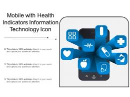 Mobile With Health Indicators Information Technology Icon