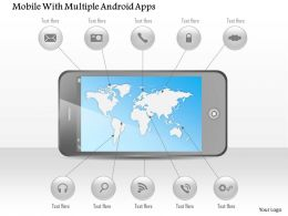 Mobile With Multiple Android Apps Ppt Presentation Slides