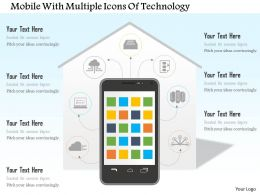 Mobile With Multiple Icons Of Technology Ppt Slides