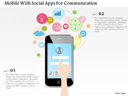 Mobile With Social Apps For Communication Ppt Slides