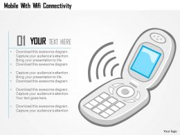 Mobile With Wifi Connectivity Ppt Slides