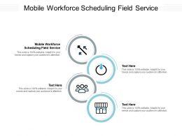 Mobile Workforce Scheduling Field Service Ppt Powerpoint Presentation Slides Cpb