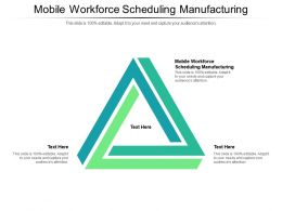 Mobile Workforce Scheduling Manufacturing Ppt Powerpoint Presentation Show Example File Cpb