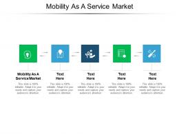 Mobility As A Service Market Ppt Powerpoint Presentation Portfolio Infographics Cpb
