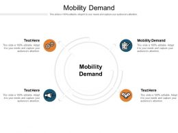 Mobility Demand Ppt Powerpoint Presentation Styles Ideas Cpb