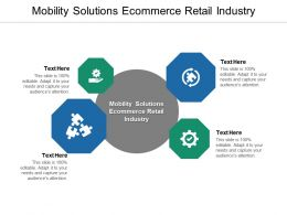 Mobility Solutions Ecommerce Retail Industry Ppt Powerpoint Presentation Infographic Cpb