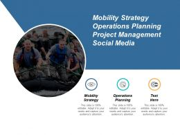 Mobility Strategy Operations Planning Project Management Social Media Cpb