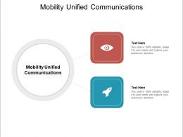 Mobility Unified Communications Ppt Powerpoint Presentation Infographic Template Ideas Cpb