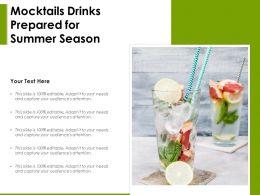 Mocktails Drinks Prepared For Summer Season