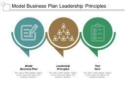Model Business Plan Leadership Principles Predictive Marketing Analytics Cpb