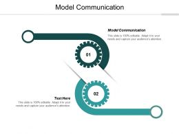 Model Communication Ppt Powerpoint Presentation Layouts Aids Cpb