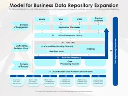 Model For Business Data Repository Expansion